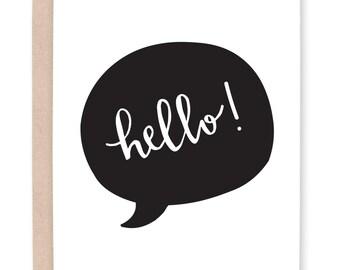 Hello Greeting Card. Hello Card. Printable Greeting Card. Any Occasion Card. Blank Card. Blank Notes. Hello Notes.  Calligraphy Card. Hello.