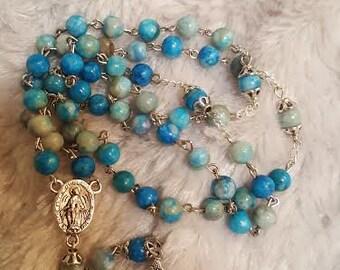 Blue Jasper Rosary