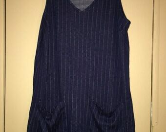 Navy Pocket Tank Dress