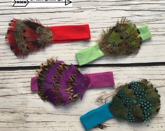 Toddler Baby Feather Headbands