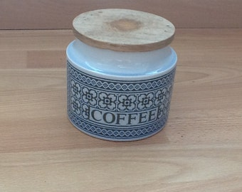 SALE NOW is Retro Hornsea England 'Tapestry' Coffee Storage Jar