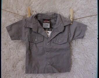 """Button up Shirt """"Music"""" theme"""