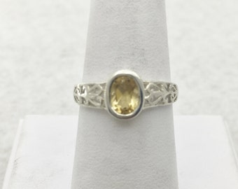 Sterling Silver and Citrine ring Size 7