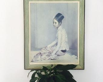 Vintage Sir Gerald Kelly Saw Ohn Nyun framed Print