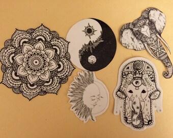 Hippie sticker pack