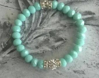 Bracelet of ⭐ beaded of ⭐ rhinestone trim