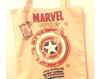 Marvel Comics Shopping Bag with Captain America Retro/Cartoon