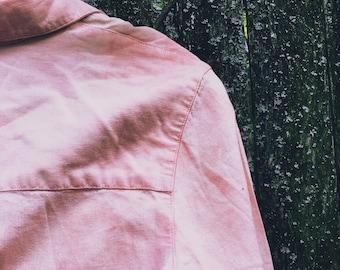 Peach Faded Soft Linen Button Down