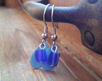 Blue Dream Rain Drop Earrings