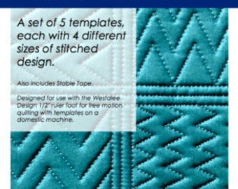 Quilting, Freemotion Mini Fills Template package