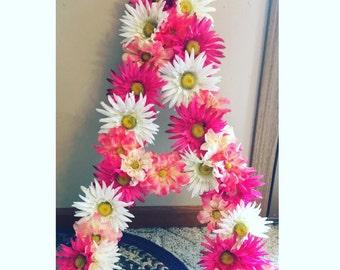 Floral Alphabet Arrangements