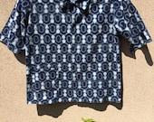 Beautiful Japanese Indigo Dyed Cotton KASURI Handmade Shirt