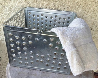 Industrial Metal Swimming Locker Basket Bin