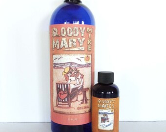 BLOODY MARY MIKE 32oz( Makes Gallon) & 4oz Rimmer Seasoning