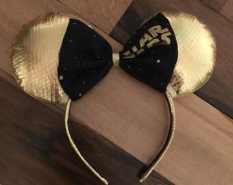 C3PO Star Wars Ears, C3PO Star Wars Mickey Ears, Disney Inspired Custom Minnie Ears
