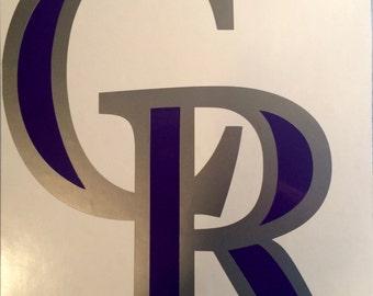 Colorado Rockies logo decal