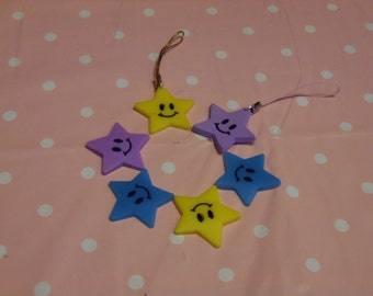 PVC Star Charm for Journals, Planners and Cell Phones