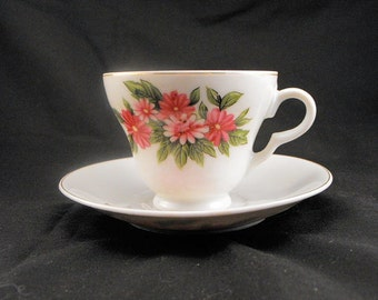 Antique Floral Tea Cups from the 1940s