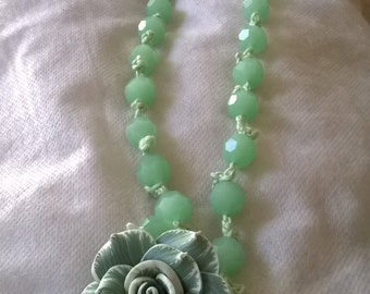 Miscellaneous crochet necklaces and earrings