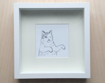 Kitty Cat Dance Wink Print