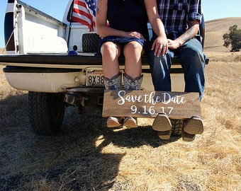 Save the Date Sign - Custom Wedding Sign - Personalized Wedding Date Sign - Engagement Sign