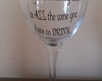 The most expensive thing about having kids is all the wine you have to drink! Wine glass