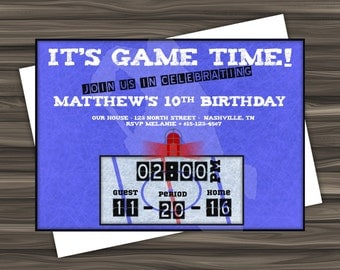 Hockey Birthday Invitation - Digital Download