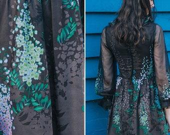 1970s Floral Dress ~ On Sale