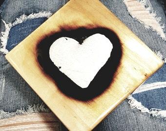 Burning Heart Wall Art