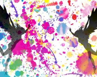 Splatter fairy print