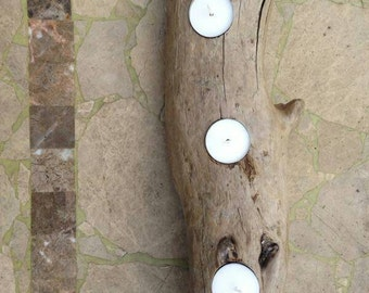 Driftwood tealight candle holders
