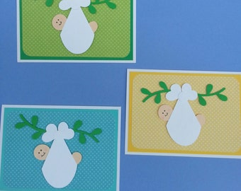 New Baby Greeting Cards - Handmade Card -New Baby - Congratulations - Baby Boy - Baby Shower Card - Cricut Die Cut - Baby Girl