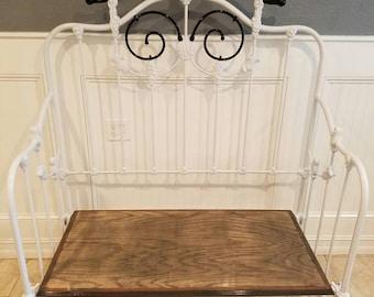 Re-purposed vintage bed
