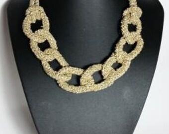 Golden thread necklace
