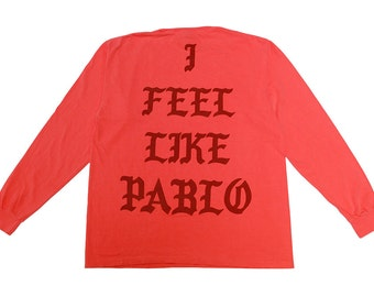 "Sale* New York ""I Feel Like Pablo"" Long Sleeve Orange Governors Ball 