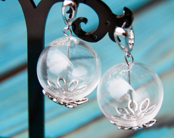 Glass bubble earrings