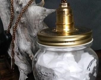 "Lamp ""jar"" recycled"