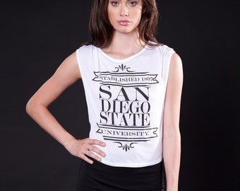 Crop Muscle Tee (T120103W-NEWSPRINT)