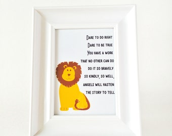 Dare to do right lion