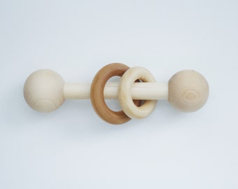 All Natural Wooden Rattle