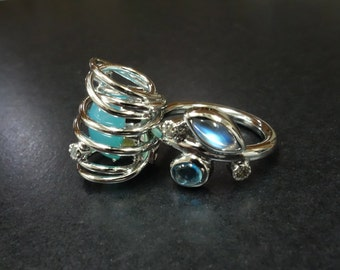 A handemade silver ring