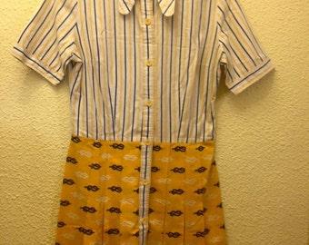 Original mod/60's nautical style dress
