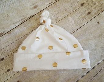 Gold Polk a Dot hat