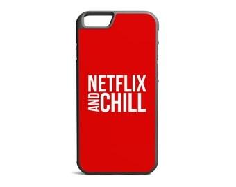 Netflix & Chill Case, Netflix Case, Funny Case, Humour Print, Rubber Bumper Case, iPhone Case, iPhone Cover, iPhone Bumper \ bc-pp062
