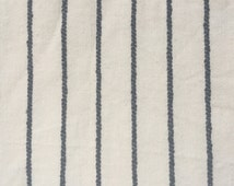 Navy and linen white stripe lightweight-medium weight fabric