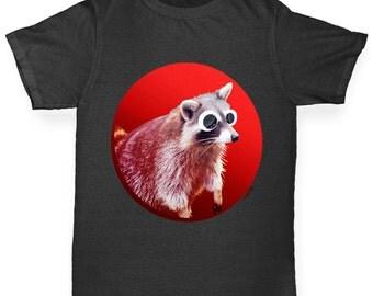Girl's Googly Eyes Racoon T-Shirt