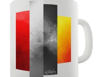 Decorative Colour Blocks Ceramic Novelty Gift Mug