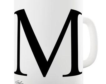 Alphabet Monogram M Ceramic Funny Mug