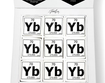 Periodic table chocolate etsy uk periodic table of elements yb ytterbium printed magical marshmallows urtaz Gallery