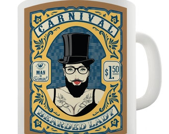 Carnival The Bearded Lady Ceramic Novelty Mug